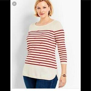 Talbots striped bow sweater